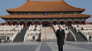 The Duke of Cambridge visited Beijing's Forbidden City.