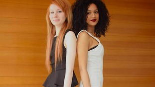 Amazingly they are twins - even though Lucy is white and Maria is black.