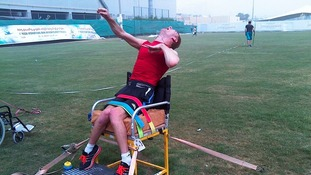 Silver for paralympian Stephen Miller in Dubai