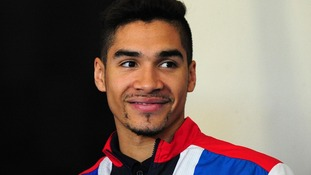 Louis Smith during the London 2012 kitting out session at Loughborough University
