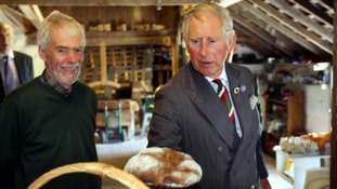 Prince Charles samples soda bread