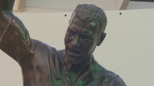 Shearer statue model, created by Tom Maley
