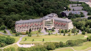 An aerial view of the Celtic Manor resort