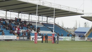 No room for standing: Featherstone Rovers christen 'new' old stands