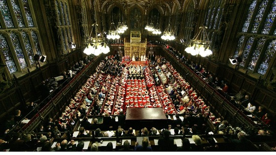 The House of Lords at State Opening of Parliament