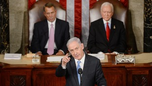 Netanyahu slams President Obama over policy with Iran.