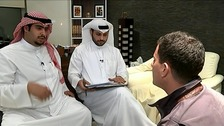 ITV News' Geraint Vincent with lawyers for Jassem Emwazi