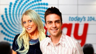 Australian radio presenters Mel Greig and Michael Christian.
