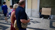 Downtown Lisbon where drug dealers now operate openly in some parts.