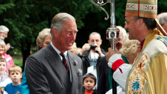 Prince of Wales at Brecon Cathedral