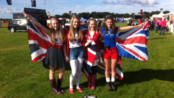 Youngsters taking their spot at RAF Cosford in patriotic attire