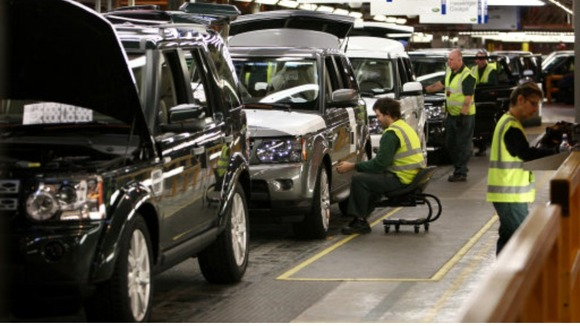 Land Rover production line doing well