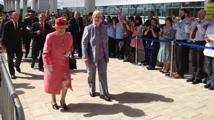 The Queen arrives at the QE hospital