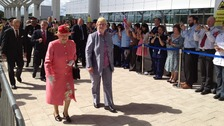 Queen arrives at Queen Elizabeth Hospital Birmingham