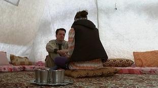ITV News' John Irvine talks to young refugee Kajal