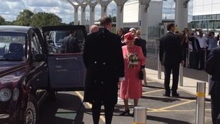 The Royal Party depart from Birmingham for RAF Cosford in Shropshire