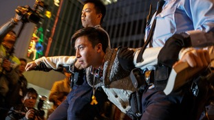 Mass demonstrations took place as Hong Kong residents demanded free elections in 2017.