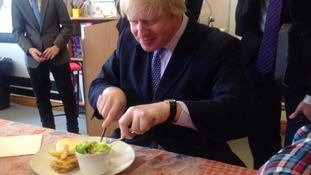Boris gets his first taste of a parmo
