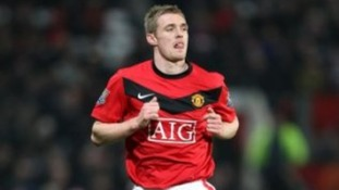 Darren Fletcher playing for Manchester United