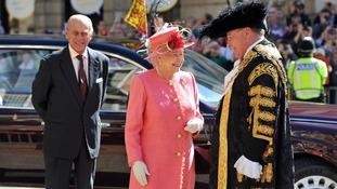 The Queen and The Duke of Edinburgh in Victoria Square, Birmingham