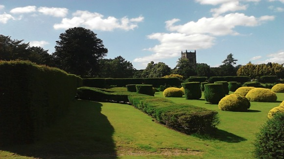 Blue sky at Elvaston Castle, Derbyshire
