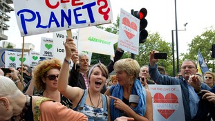 The People's Climate March, central London, September 2014.