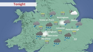 rain across the Central region