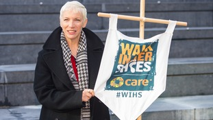 Annie Lennox takes part in CARE International's Walk in Her Shoes march