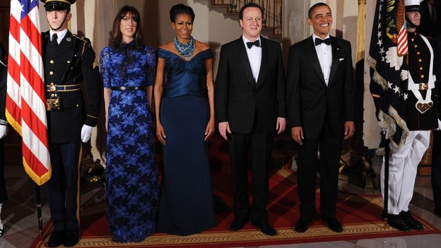 David and Samantha Cameron with Barack and Michelle Obama
