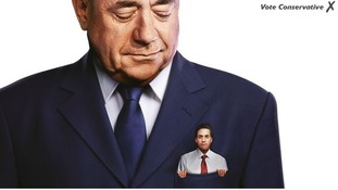 Ed Miliband is depicted as being in Alex Salmond's pocket.