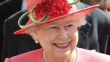 The Queen in Birmingham today - the final stop in the Midlands for the Diamond Jubilee Tour