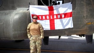 She was the first female RAF paramedic to work on the Afghan frontline