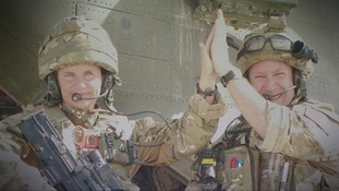 Flt Lt Sanderson completed three tours of Afghanistan