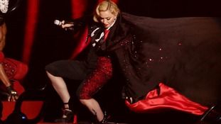 Pop diva Madonna tells Jonathan Ross 'I couldn't help myself!' over bum flash.