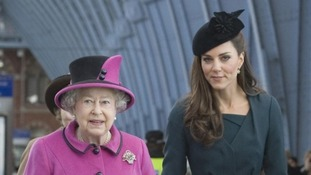 Fashion icon Kate, the Duchess of Cambridge and The Queen in Leicester
