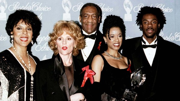 Bill Cosby and the cast of his hit show