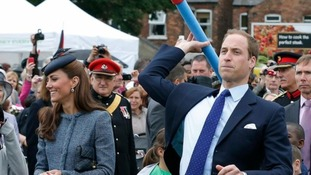 Prince William took part in sports day activities