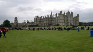 Guests at Burghley House, Stamford where a special Diamond Jubilee picnic was held