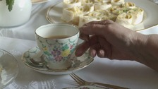 Tea parties give elderly people a chance to catch up.