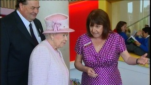 The Queen officially opens The Hive in Worcester