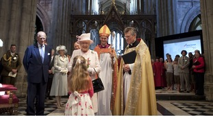 The Queen and The Duke of Edinburgh at Worcester Cathedral