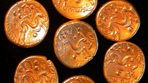 The coins date back to the Iron Age