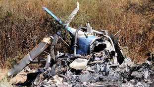 helicopter wreckage