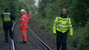 Emergency services on rail track