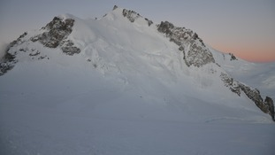 Mont Maudit in the French Alps following the avalanche which struck on Thursday.