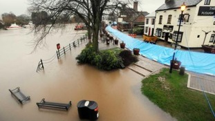 Flooding in Worcestershire, Upton-upon-Severn has a reputation for being the most flooded town in Britain