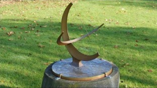 The Henry Moore sundial sculpture.