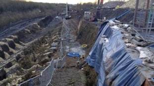 350,000 tonnes of earth moved in the landslip