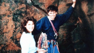 Roger Payne with his wife Julie Ann Clyma as they prepared to climb K2 in 1993.