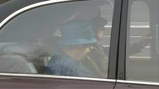 The Queen was accompanied by the Duke of Edinburgh